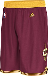 Adidas Cleveland Cavaliers Burgundy Embroidered Swingman Basketball Shorts