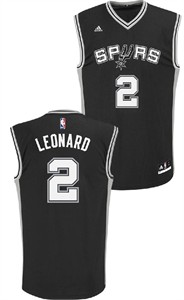 Adidas Kawhi Leonard Youth San Antonio Spurs #2 Black Replica Basketball Jersey
