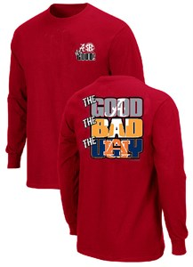Alabama Crimson Tide The Good Bad Ugly Crimson Long Sleeve T Shirt