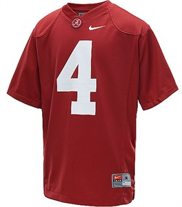 Alabama Crimson Tide Youth Game #4 Crimson Football Jersey By Nike Team Sports
