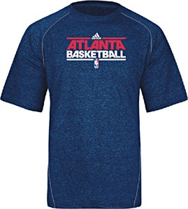 Atlanta Hawks Adidas Blue  Practice Climalite Performance Short Sleeve T Shirt