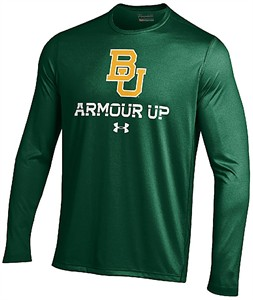Baylor Bears Green Poly Dry Armour Up HeatGear NuTech Long Sleeve Shirt