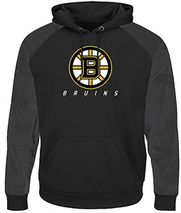 Boston Bruins Black Penalty Shot Synthetic Poly Hoodie by Majestic