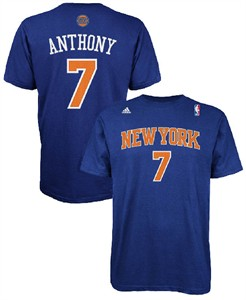 Carmelo Anthony 7 New York Knicks High Definition Select Replica T Shirt by Adidas