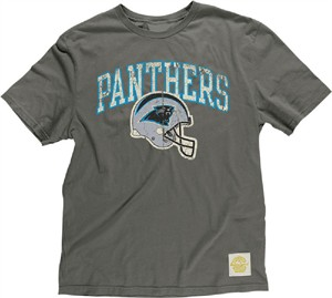 Carolina Panthers Button Hook Slimmer Fit Retro T Shirt By Reebok