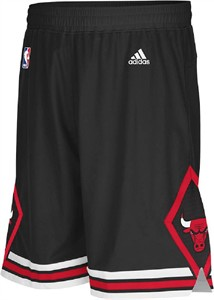 Chicago Bulls Youth Black Swingman Basketball Shorts By Adidas