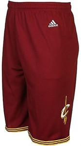 """Cleveland Cavaliers Wine Youth 8"""" Inseam NBA Replica Basketball Shorts By Adidas"""