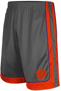 Clemson Tigers Colosseum Charcoal Embroidered Big Winner Synthetic Shorts