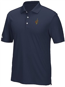 Cleveland Cavaliers Mens Adidas Performance Synthetic Navy Polo Shirt