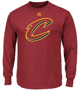 Cleveland Cavaliers Mens Burgundy  The Assist Long Sleeve T Shirt