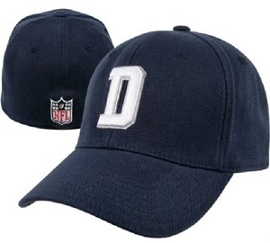 Dallas Cowboys Blue Stretch Flex Fit Sized Coaches Sidelines Cap