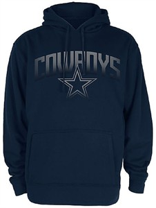 Dallas Cowboys Mens Blue Rescender Solid Synthetic Poly Hoodie Sweatshirt