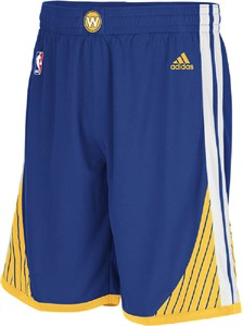 Golden State Warriors Blue Swingman Shorts By Adidas