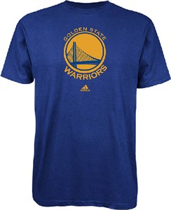 Golden State Warriors Blue Primary Logo T Shirt by Adidas