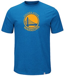 Golden State Warriors Mens Royal Established Position Short Sleeve T Shirt