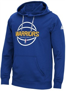 Golden State Warriors Royal Adidas New Ball Graphic Synthetic Climawarm Hoodie Sweatshirt