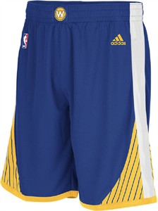 Youth Golden State Warriors New Blue Replica Basketball Shorts by Adidas