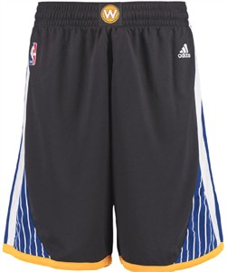 Golden State Warriors Youth Carbon  Replica Basketball Shorts by Adidas