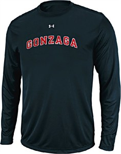 Gonzaga Bulldogs Poly HeatGear NuTech Performance LS Shirt by Under Armour