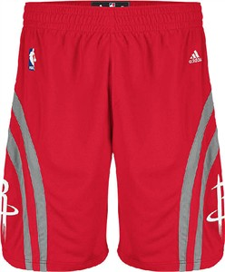 Houston Rockets Red Embroidered Swingman Shorts By Adidas