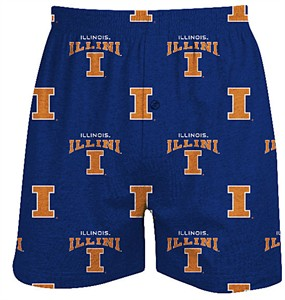 Illinois Fighting Illini Mens Supreme Blue Boxer Shorts