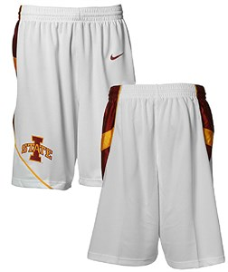 Iowa State Cyclones White Replica Short by Nike