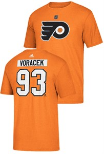 Jakub Voracek PHiladelphia Flyers Mens High Def Adidas Orange Short Sleeve T Shir