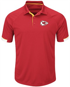 Kansas City Chiefs Mens Red Majestic Last Second Win Synthetic Polo Shirt