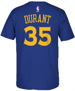 Kevin Durant 35 Adidas Golden State Warriors High Def Replica T Shirt
