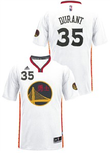 kevin durant youth golden state warriors adidas white chinese new year replica basketball jersey - Warriors Chinese New Year Jersey