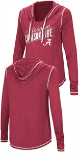 Ladies Alabama Crimson Tide Junior Sized Crimson Synthetic Hooded Pullover Top
