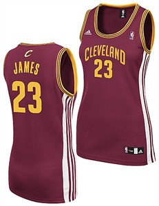 Ladies Lebron James Cleveland Cavaliers Basketball Jersey by Adidas