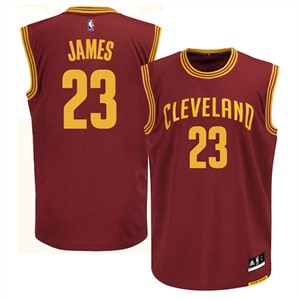 LeBron James Youth Cleveland Cavaliers Wine Replica Basketball Jersey by Outerstuff