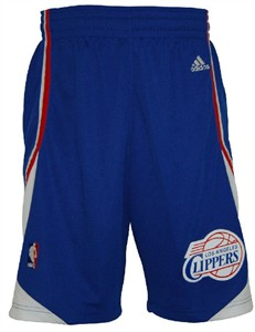 Los Angeles Clippers Alternate Embroidered Swingman Shorts By Adidas