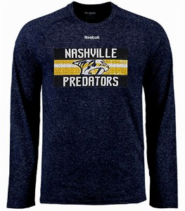Nashville Predators Mens Reebok Name In Lights Ultimate Supremium Synthetic Long Sleeve Shirt