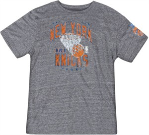 New York Knicks Grey Nuttin But Net Short Sleeve T Shirt by Adidas