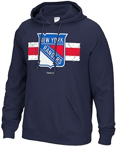 New York Rangers Blue Reebok Honor Code 2 Tackle Twill Hoodie Sweatshirt