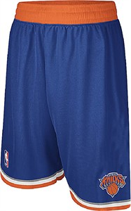 New York Knicks Royal Embroidered Swingman Shorts By Adidas