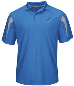 NFL Detroit Lions Sport Blue Field Classic 14 Synthetic Polo by Majestic