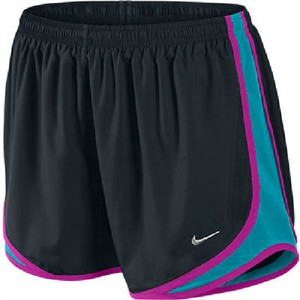 Nike Black/Bright Turquoise Women's Dri-FIT Tempo Running Shorts