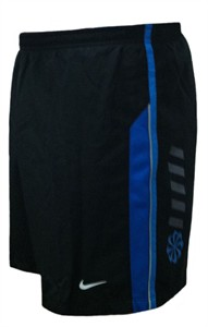 Nike Five Inch Inseam Men's Black/Blue Dri-FIT Reflective Running Shorts