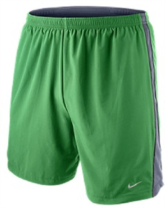 "Nike Mens 7"" Inseam Victory Green Tempo Track Shorts 