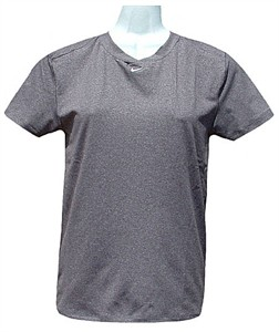 Nike Women�s Dri-FIT Tight Grey Pro Short Sleeve Workout Top