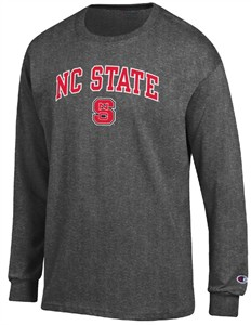 North Carolina State Wolfpack Granite Heather Champion Campus Long Sleeve Tee Shirt