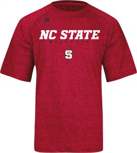 North Carolina State Wolfpack Heather Red Climalite Slogan Sidelines Top by Adidas