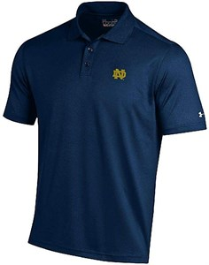 Notre Dame Fighting Irish Mens Navy Performance Polo Shirt by Under Armour