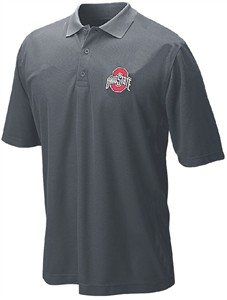 Ohio State Buckeyes Charcoal College LC Logo Synthetic Polo Shirt