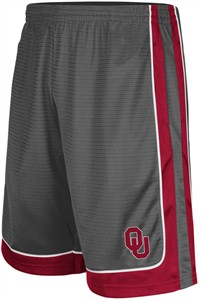 Oklahoma Sooners Colosseum Charcoal Embroidered Big Winner Synthetic Shorts