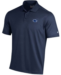 Penn State Nittany Lions Navy Under Armour Synthetic Performance Polo Shirt