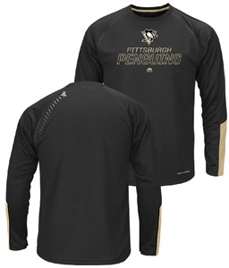 Pittsburgh Penguins Cutting Through Long Sleeve Synthetic Tee Shirt